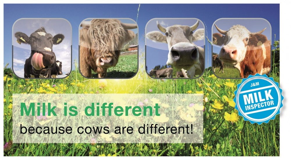 Milk is different because cows are different